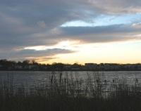 New Haven, CT - dusk at Quinnipiac River marsh.