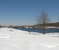 New Haven, CT - Fair Haven in snow.
